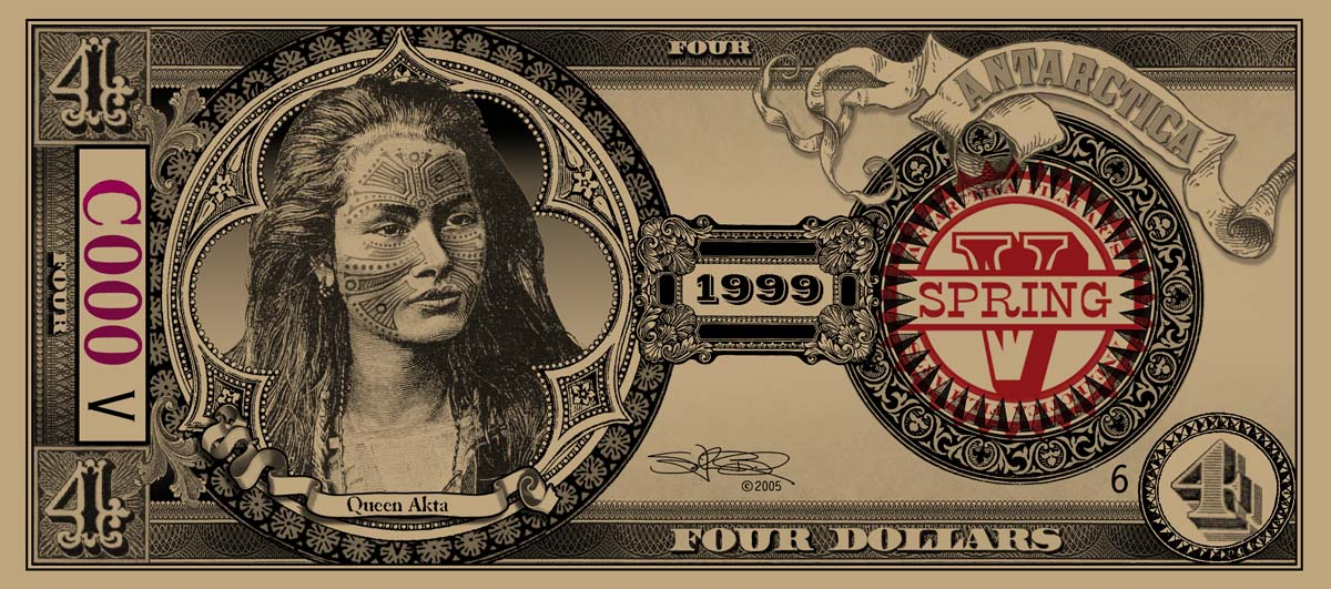 ANTARCTICA Dream-Dollars Four Dollar Notes
